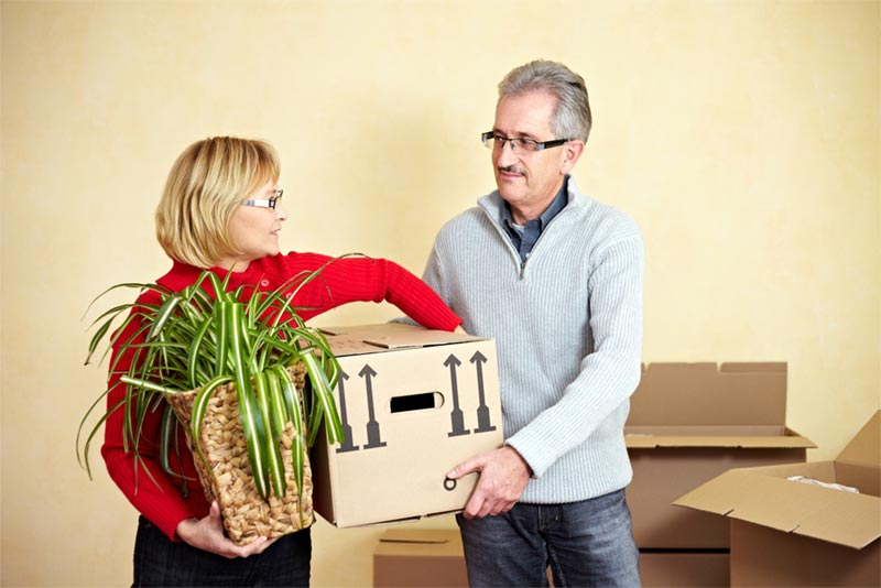 Retired couple packs and downsizes in their home