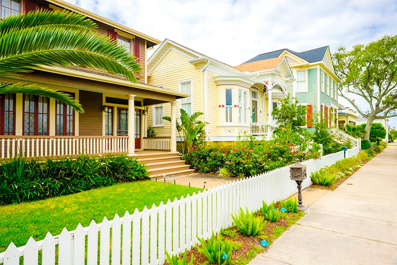 Historic homes in Galveston, Texas