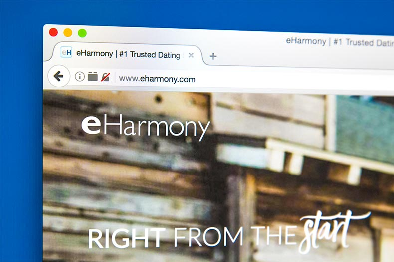 Screenshot of eHarmony website