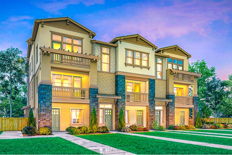 Rendering of a townhome building in Enclave at Mission Hills