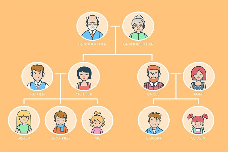 Illustration of a family tree