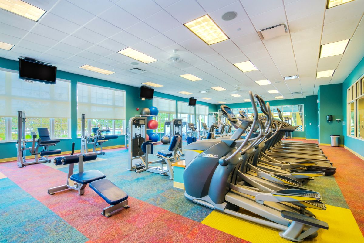 The athletically inclined can work out in the comprehensive fitness center