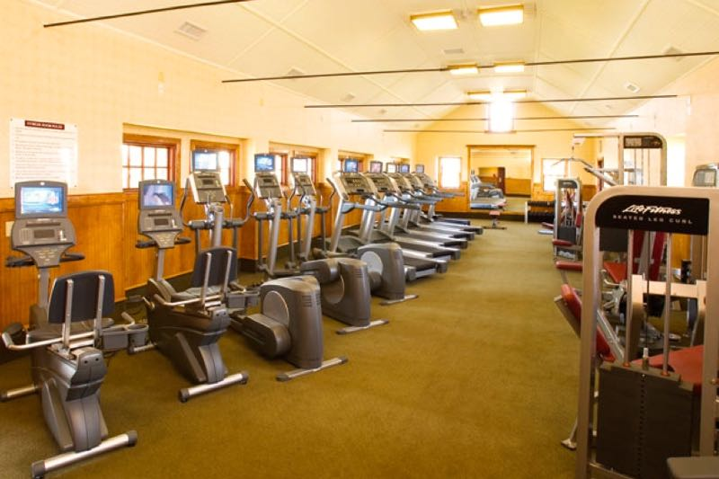 The Fitness Center is one of five amenity centers available to residents.