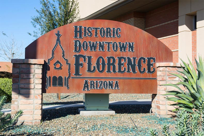 Historic Downtown sign in Florence, Arizona
