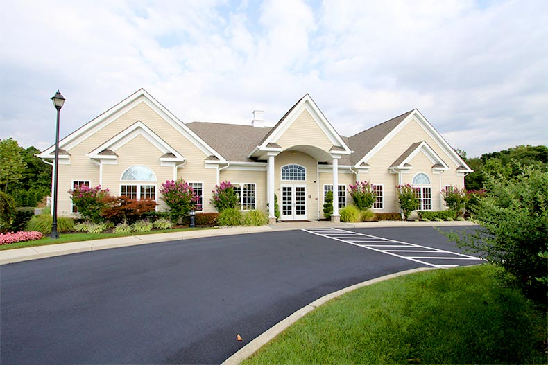 Exterior of the clubhouse at Four Seasons at Forest Meadows in Sicklerville, New Jersey