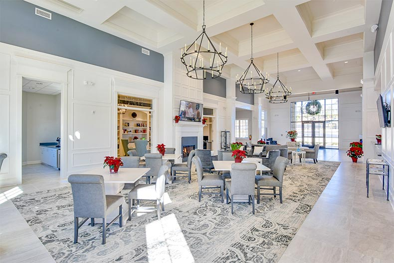 Interior view of the clubhouse at Del Webb Chateau Elan in Braselton, Georgia