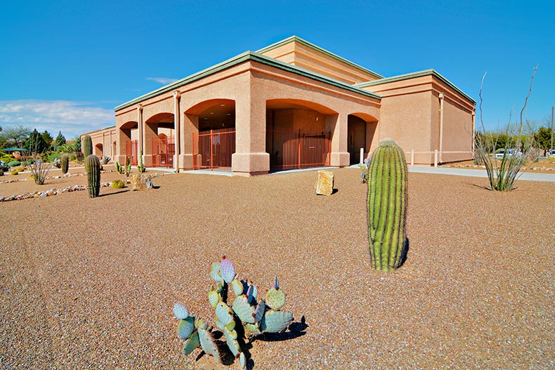 Exterior view of the Las Campanas Social Center in Green Valley, Arizona