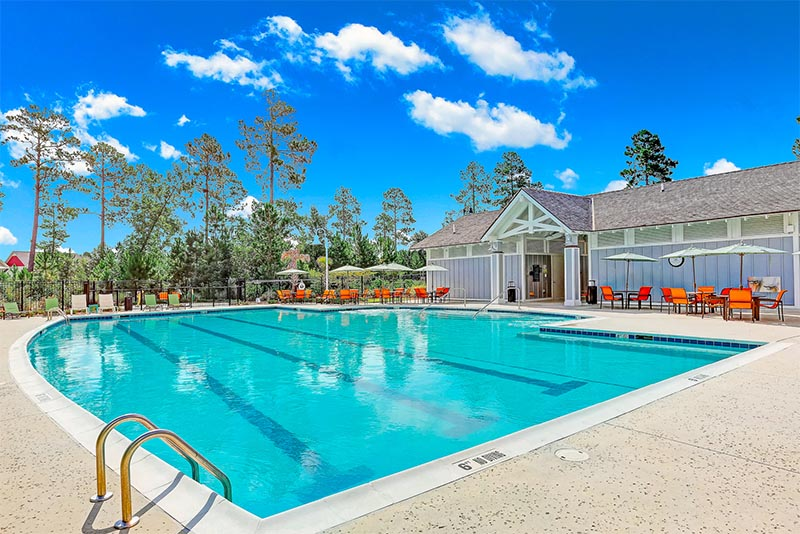 Resort style pool at Brunswick Forest in North Carolina