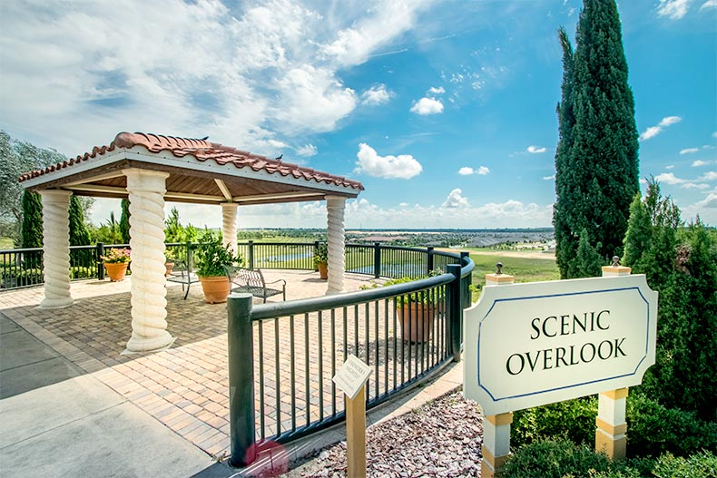A scenic overlook at Heritage Hills in Clermont, Florida