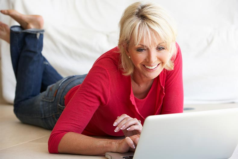 An active adult woman starting her own website to earn money off her retirement hobby