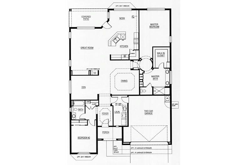 Floor plan layout for the La Costa model at Robson Ranch - Arizona in Eloy, Arizona