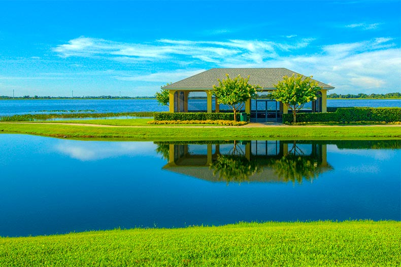 lake and gazebo at LakeAshton in Lake Wales Florida