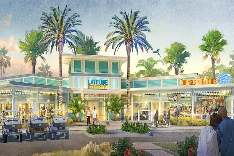 Rendering of Latitude Bar and Chill in Latitude Margaritaville