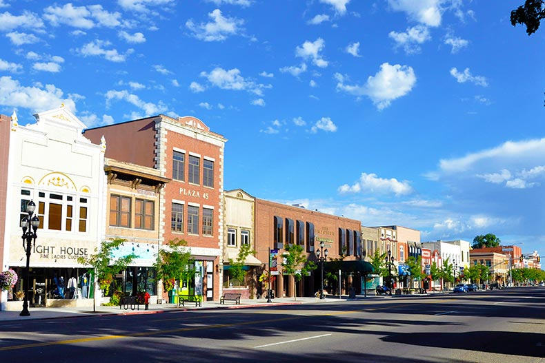 Downtown street in Logan, Utah