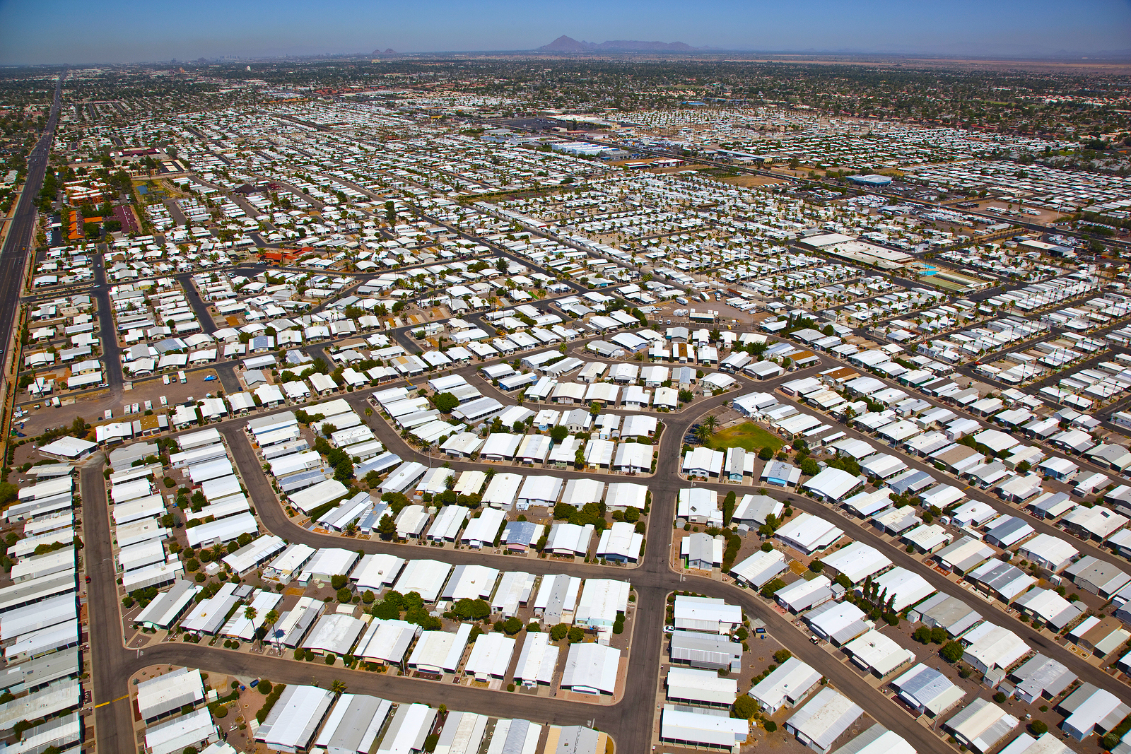 Newmark Homes prepares to build new manufactured homes in Arizona.