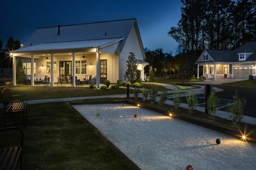 Bocce ball is just one great amenity that serenade offers. - Photo via Windsong Properties