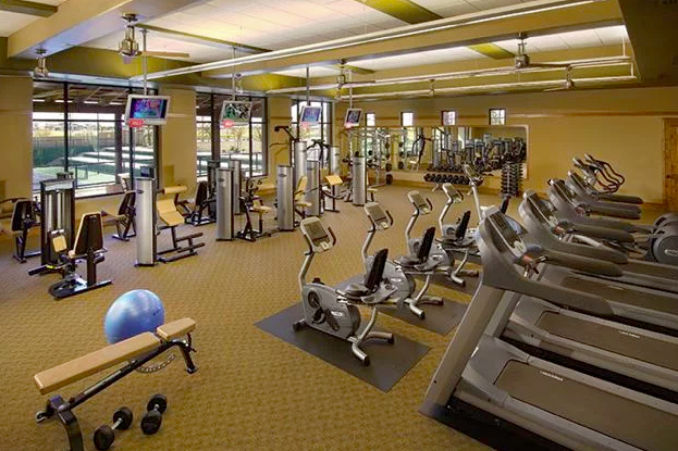 The fitness center at Robson Ranch Arizona.