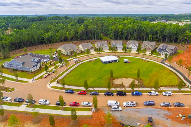 An aerial view of the developing Cresswind Charlotte. Photo Courtesy of Kolter Homes.