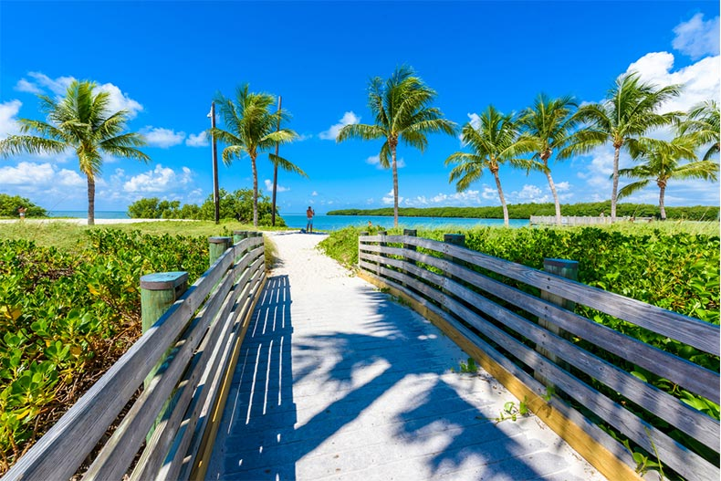 Walkway to Sombrero Beach on Marathon Key