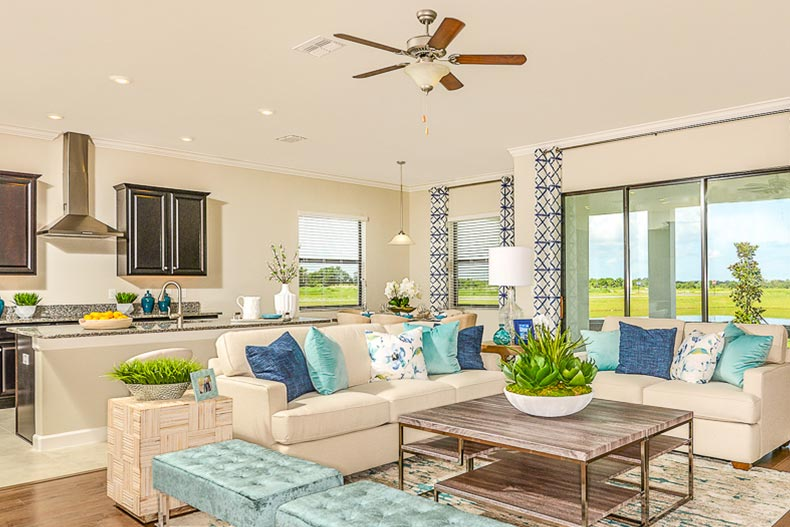 Interior view of a model home at Medley at Mirada in San Antonio, Florida