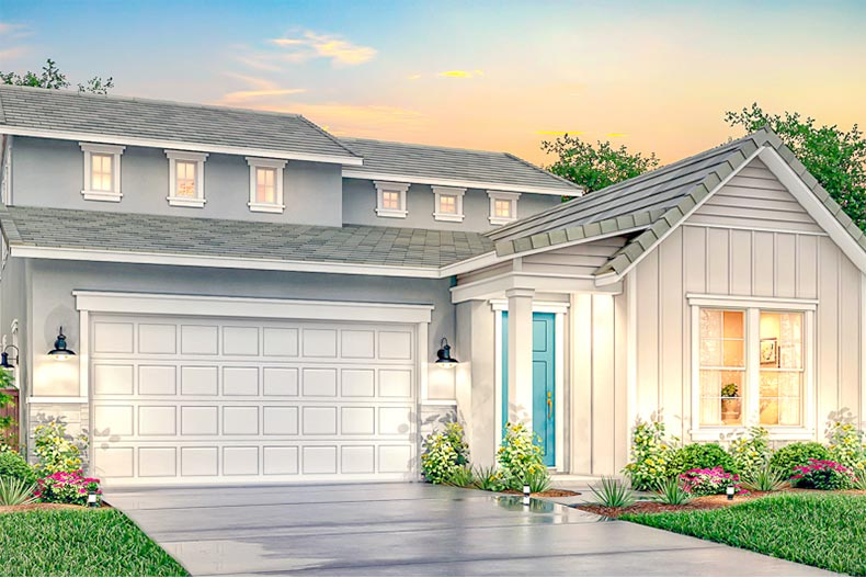 Rendering of a model home at Cielo at Sand Creek in Antioch, California