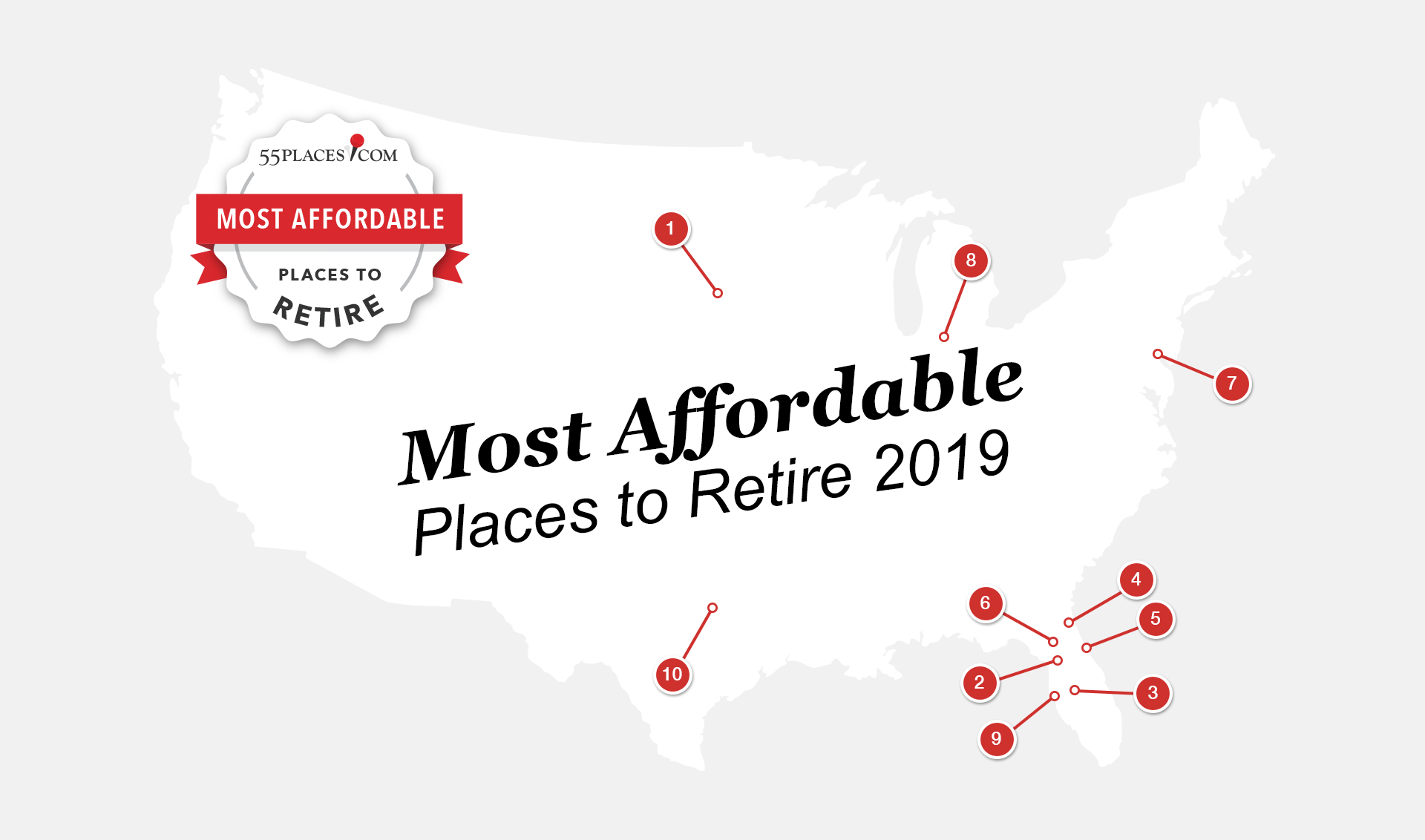 The Most Affordable Places to Retire in 2019 | 55places