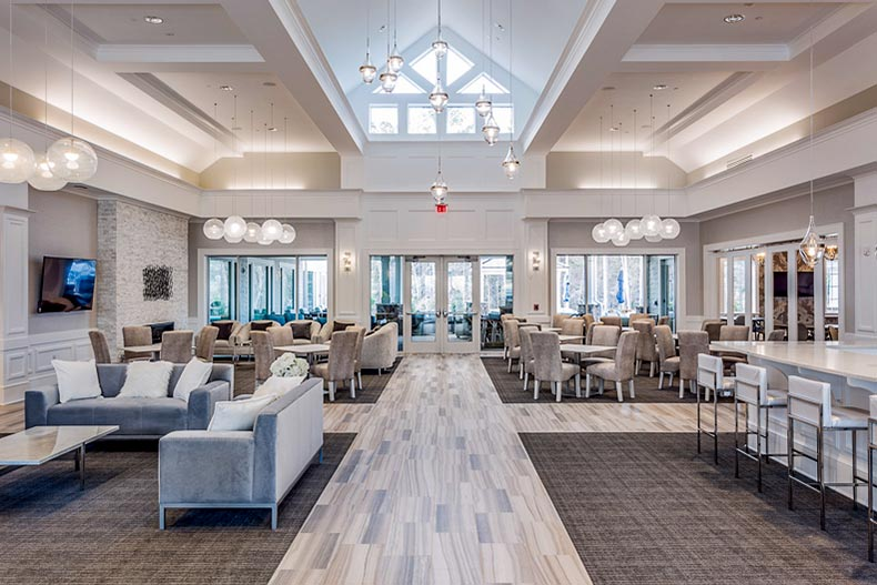 Interior view of the clubhouse at Del Webb at Traditions in Wake Forest, North Carolina