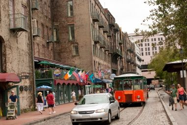 Simply walking or driving around the Savannah area  is a joy of its own. The beauty of the city's architecture and lush oak trees, dripping with Spanish moss, are straight from a picture postcard.