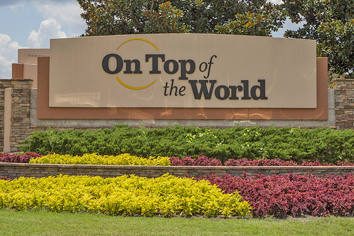 on top of the world sign