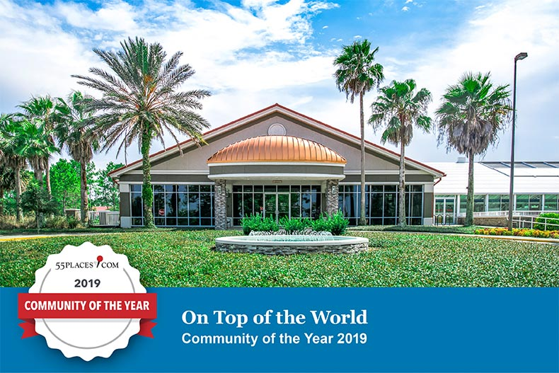 Exterior of On Top of the World Clubhouse Ocala, FL