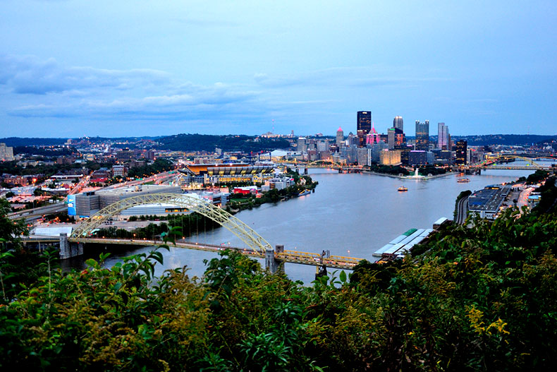 View of downtown Pittsburgh from Mount Washington.