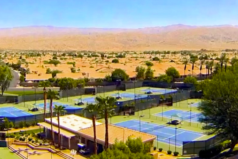 Sun City Palm Desert offers tennis courts that residents love taking advantage of.