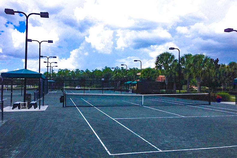 Tennis court in Pelican Preserve, Fort Myers, FL