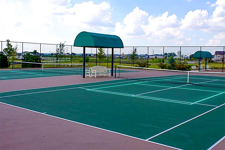 Pickleball courts in Carillon Club