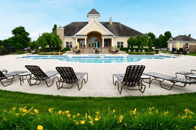 Pool and club House at The Four Seasons at Elm Tree
