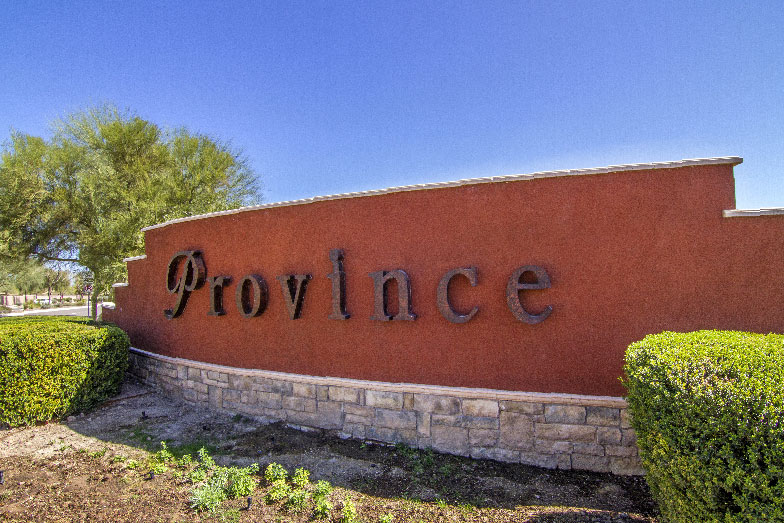community sign for province in arizona
