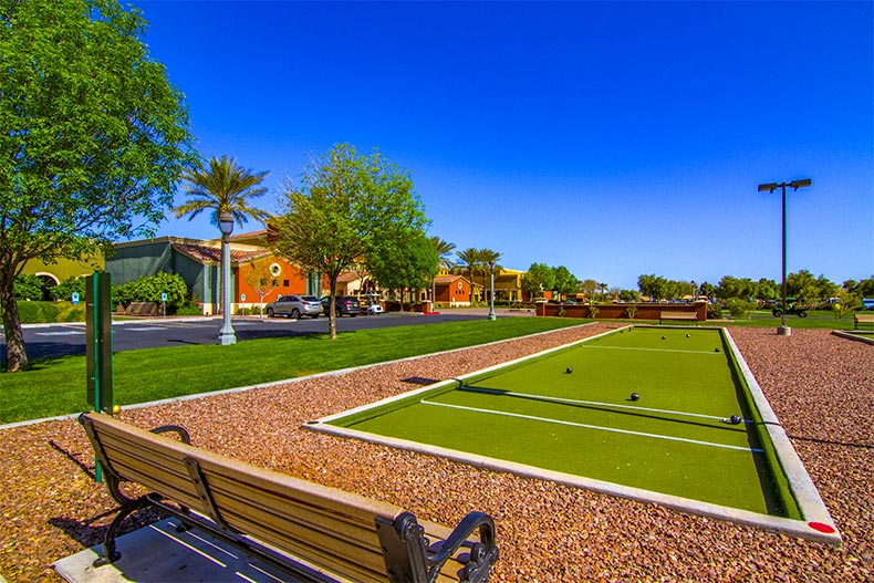 bocce ball courts at Province in Maricopa Arizona