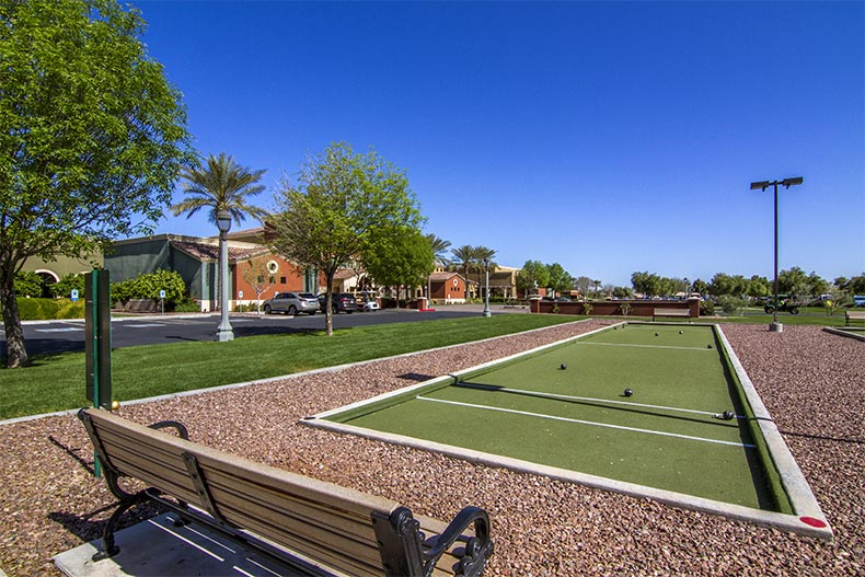 Bocce ball courts at Province in Maricopa, Arizona