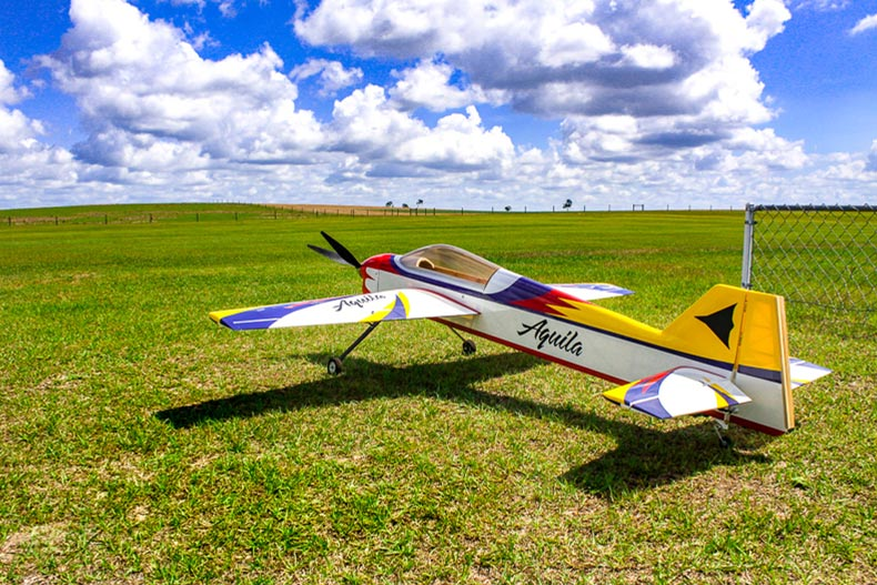 The R/C airplane flying field at On Top of the World in Ocala, Florida