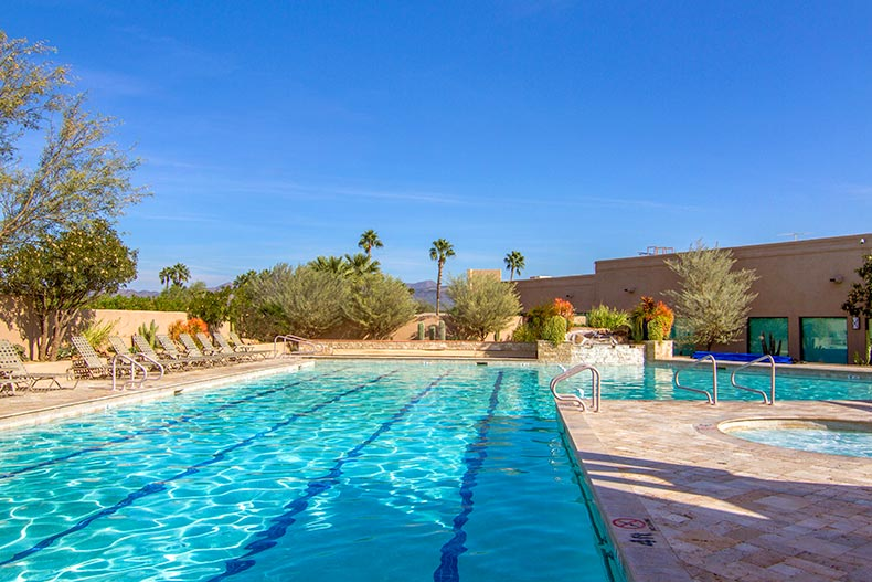 The outdoor pool and spa at Rio Verde in Rio Verde, Arizona