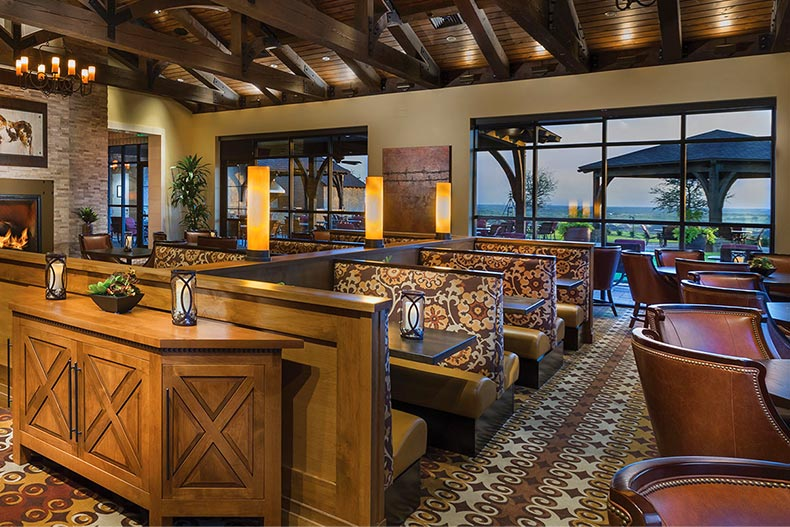 Interior view of the on-site restaurant at Robson Ranch - Texas in Denton, Texas