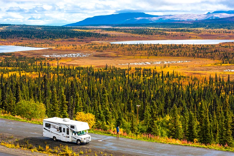 RV on an open road
