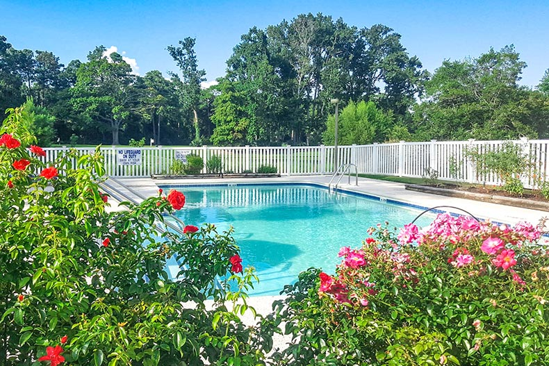 View of the outdoor pool at Covenant Towers in Myrtle Beach, South Carolina