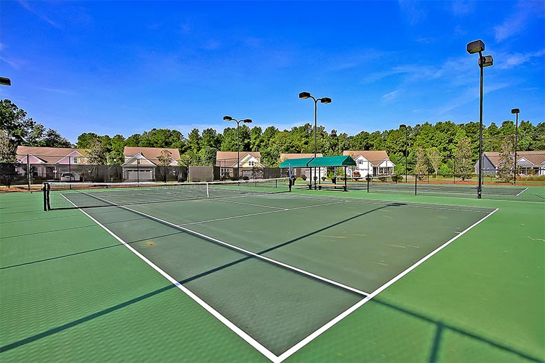 View of the tennis/pickleball courts at Cresswind Charleston in Summerville, South Carolina
