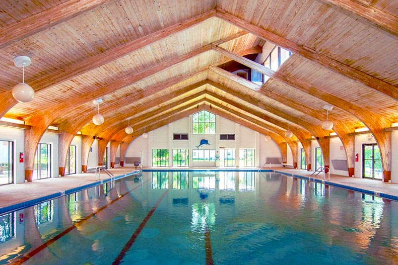 indoor pool at Scottish Highlands community