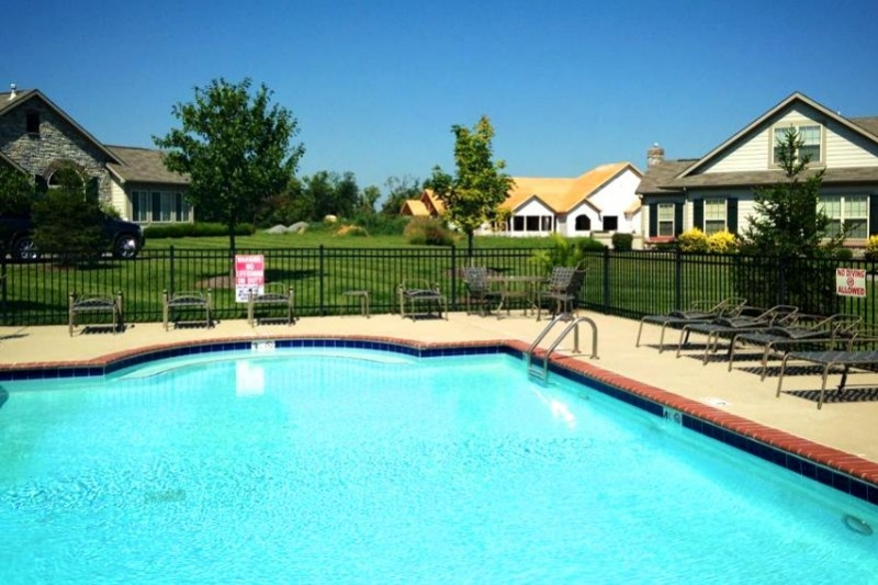 The Villas  at Ridgefield Farm offers a pool and patio, great for relaxing with a good book or swimming a few laps.