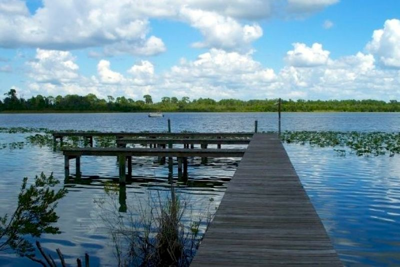 A fully stocked lake is just one of the amazing features of Highlands Ridge.