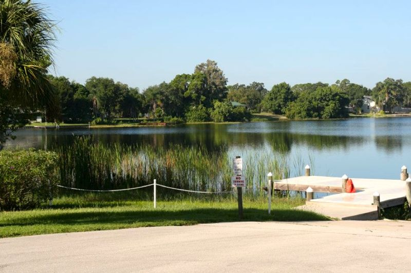 Tomoka Heights is a 55+ community that offers scenic water features and plenty of outdoor activities.