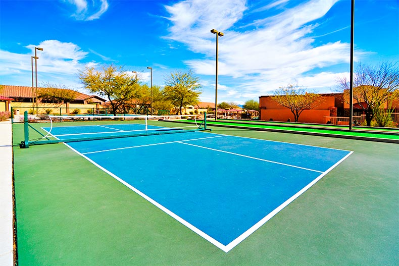Pickleball court in Sonora at Rancho Sahuarita near Tucson