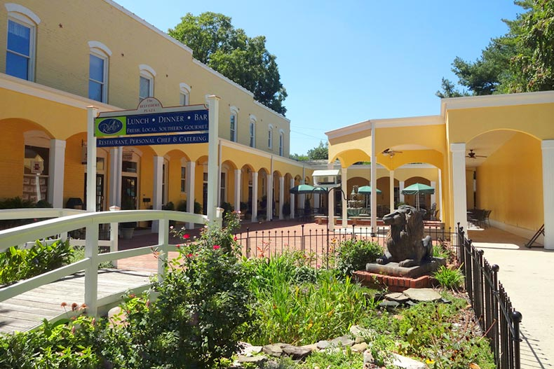 Belvedere Plaza Shops and Courtyard in Southern Pines, North Carolina